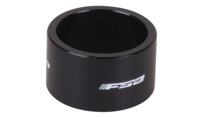 "ʳ���� ALU SPACER - 1""x20mm black FSA LOGO"
