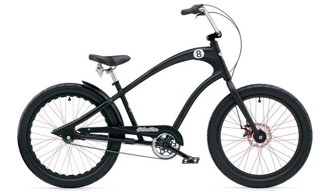 Велосипед Electra Straight 8 3i (Alloy) disc satin Black