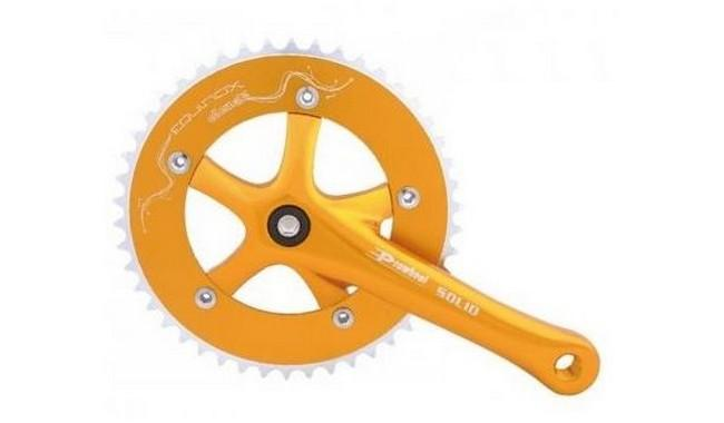 Комплект шатунов PROWHEEL SINGLE Solid-246T-F-1 46T 175mm gold
